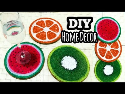 DIY- home decor. coaster decorating ideas. DIY crafts. Wall decor
