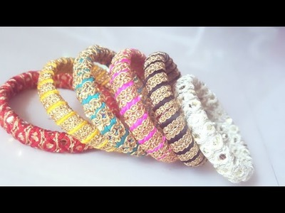 (DIY)HOW TO MAKE DESIGNERS WEAR GOTTA LACE BANGLES.THE STUNNING HANDMADE'S.