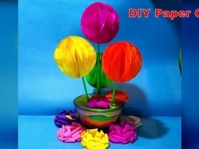 DIY paper flower. diy room decor easy. ताव पेपर से सजावट कीजिये.