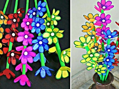 DIY Room Decoration Idea-How to Make Decorative Flower Sticks