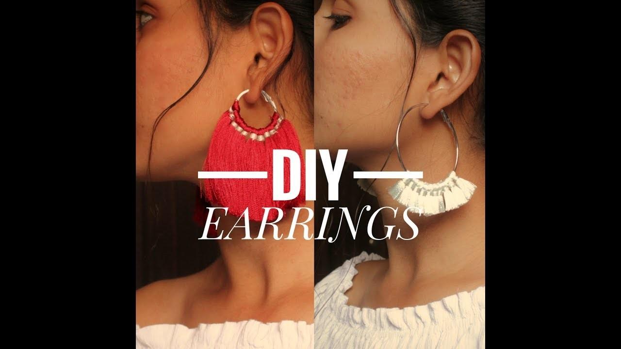 DIY : simple and easy earrings    tassel earrings    Sneha Sharma
