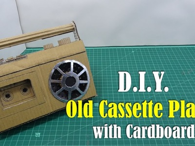 DIY: Vintage Cassette Player with Cardboard - How to Make