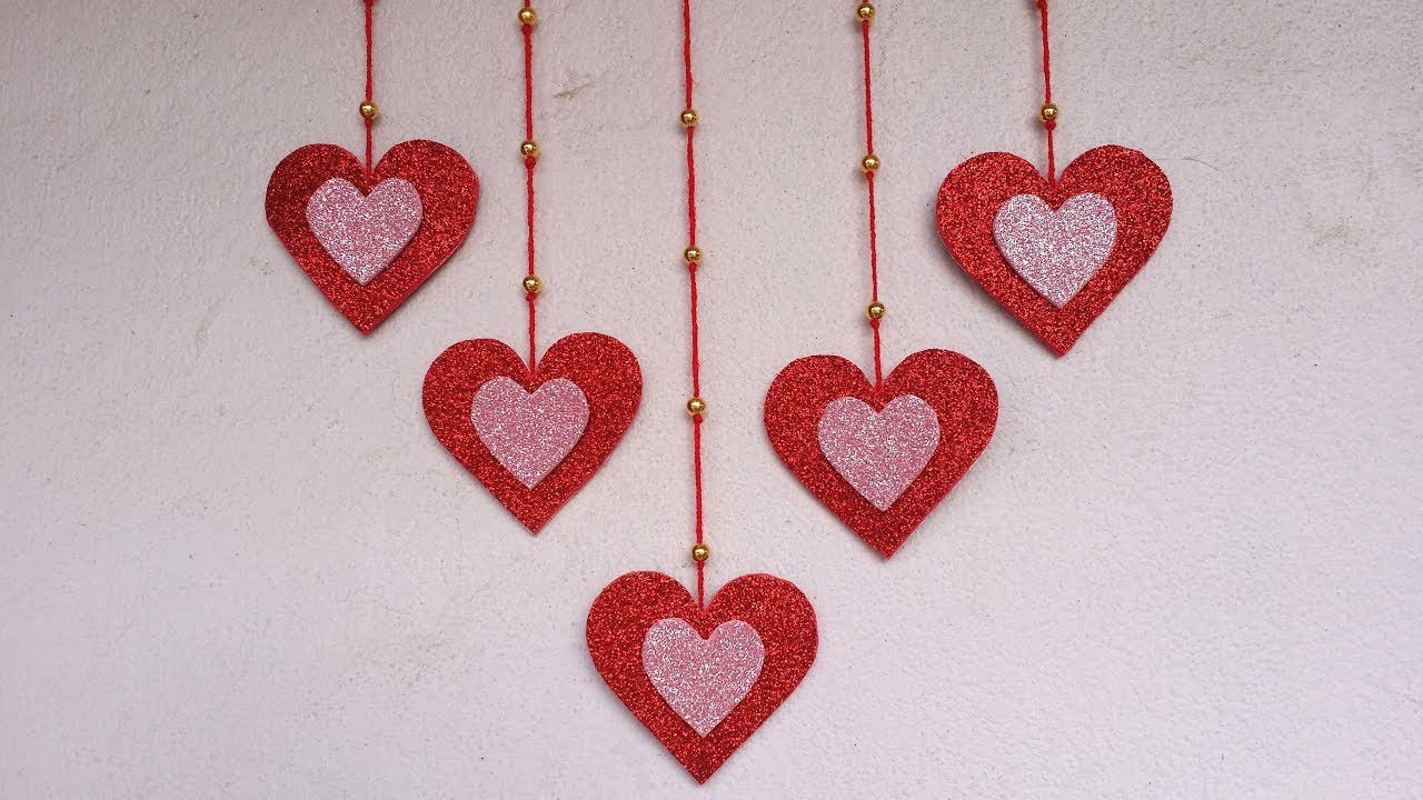 DIY: Wall Hanging Idea!!! How to Make Beautiful Wall Hanging for Valentines Decoration!!!
