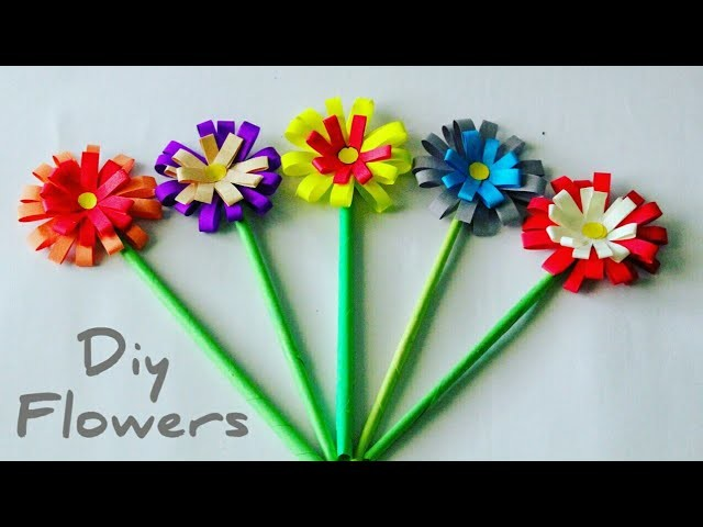Easy paper flower making colorful paper flowers to make paper easy paper flower making colorful paper flowers to make paper flowers craft by kovaicraft mightylinksfo