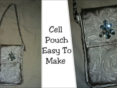 Easy To Make Mobile Pouch| How to make Handmade Mobile Case_Easy method