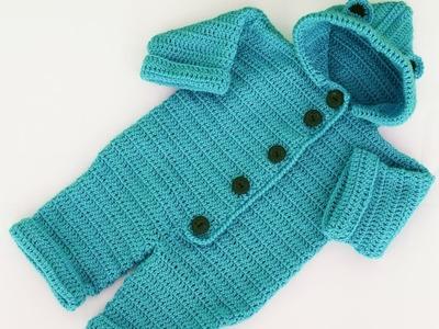 Enterizo o mono a crochet muy facil y rapido MAJOVEL CROCHET
