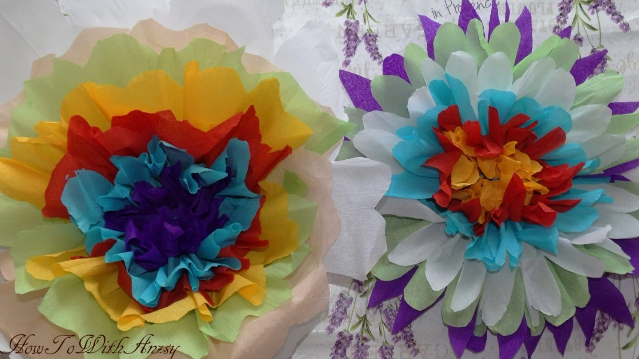 Paper Flower Making With Crepe Papereasy To Make Decoration Idea