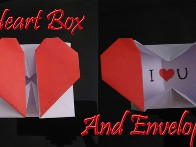 Heart box and envelop with message a4 colour paper