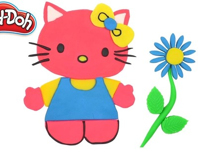 Hello Kitty How To Make With Play Doh. DIY Crafts for Kids. Clay Modeling Children