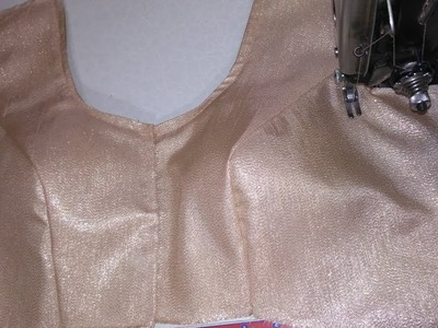 How to attach princess cut blaouse.Neck cutting & stitching with front open blaouse