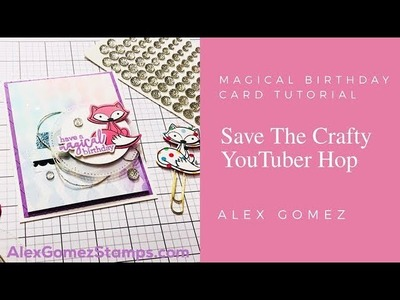 How to Create a Birthday Card using Pan Pastels | Alex Gomez | Fun Stampers Journey