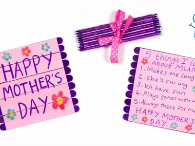 How to Create a Mother's Day Folding Pop Stick Card