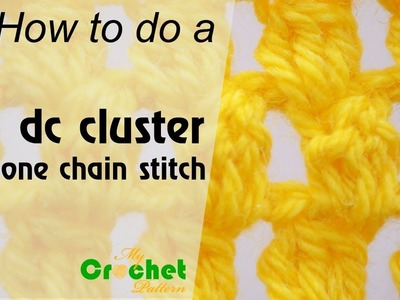 How to do a 3 double crochet cluster in one chain stitch - Crochet for beginners