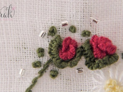 How to embroider a Natural Cast-On Rose   Detailed visuals and concise tutorial
