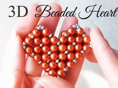 How To Make 3D Beaded Heart ❤️