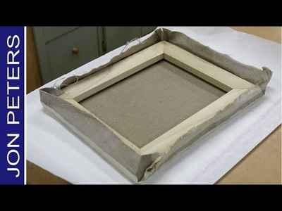 How to make a Canvas Stretcher & Re Stretch a Painting