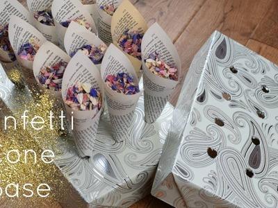 How to make a Confetti Cone Base