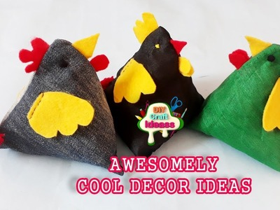 How to make a deco small pillow with recycled jeans - Easy method | arush DIY Craft Ideas