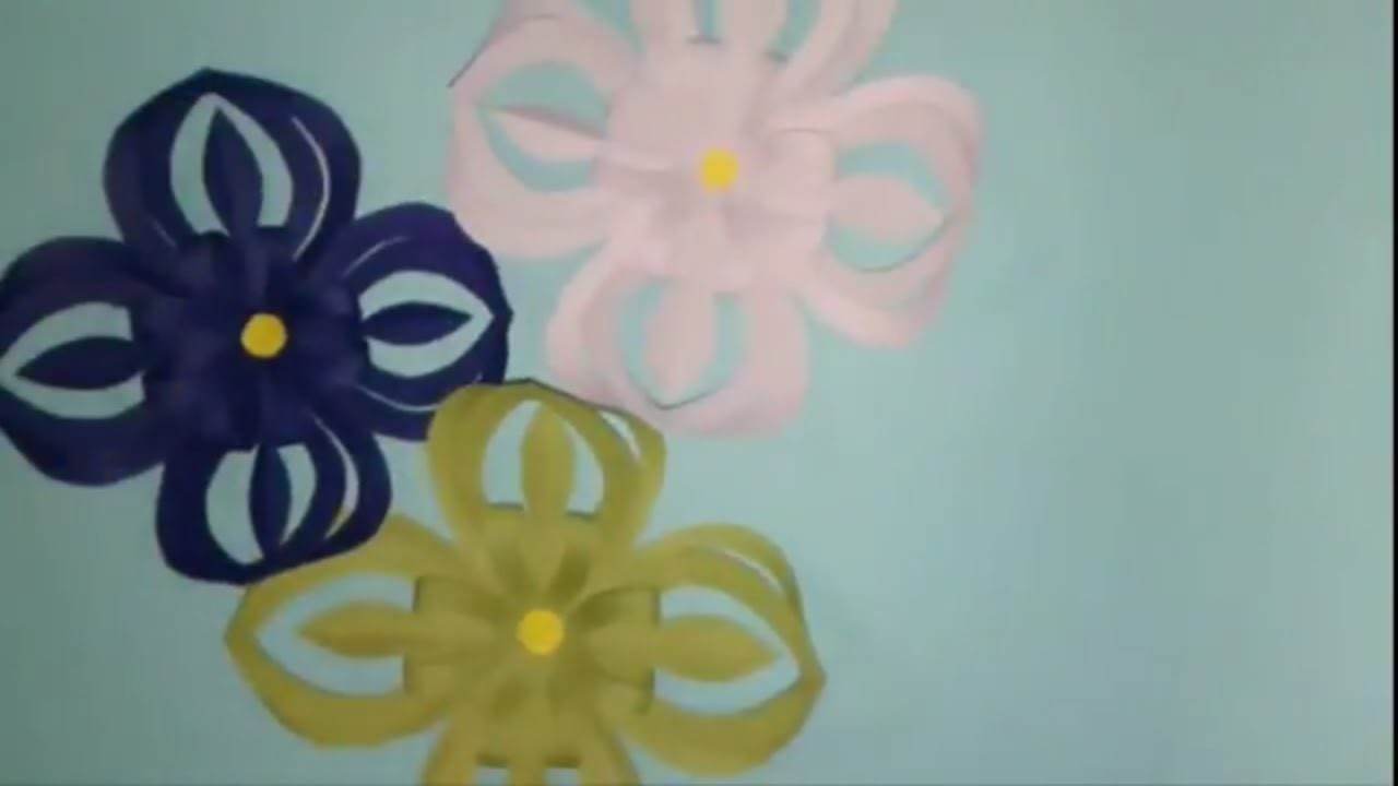 How To Make A Flower With Paper Making Paper Flowers Step By Step