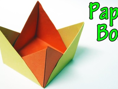 How to make a Paper Box (Origami Box)