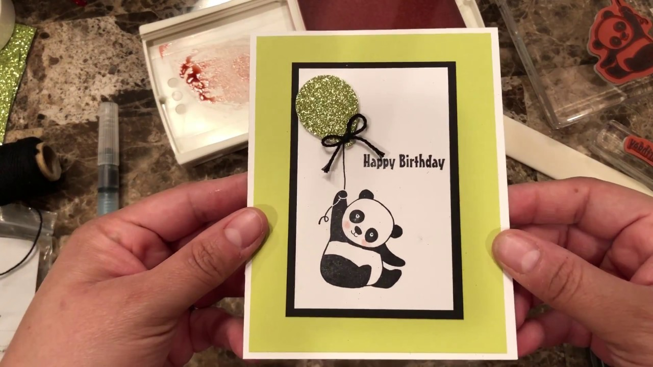 How to make a quick and easy card using Party Pandas