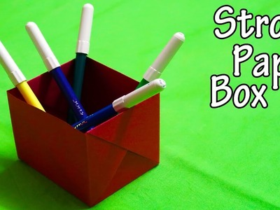 How to make a Strong Paper Box