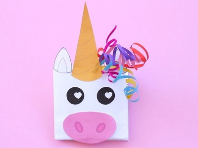 How to Make a Unicorn Paper Puppet for Valentine's Day