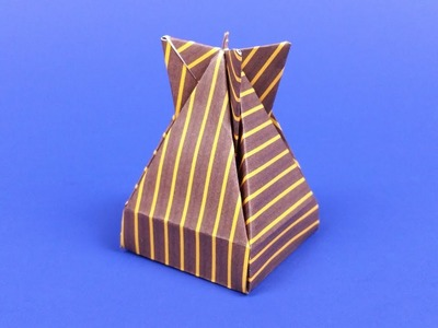 How to make an Origami Dropbox, a cool paper gift box designed by José Meeusen