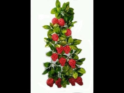 How to make Beaded strawberry chandelier    Full Tutorial