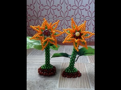 How to make beaded sunflower treed(part 2)পুতির সূর্যমুখী ফুল