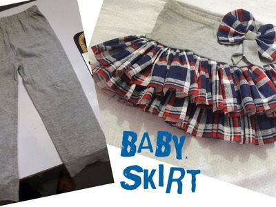 How to make beautiful baby skirt from old baby leggings