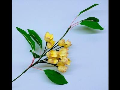 How to make Crepe Paper Flowers Enkianthus campanulatus (flower # 246)