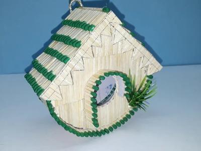 How to make DIY Match sticks Fairy House Showpiece for Birds
