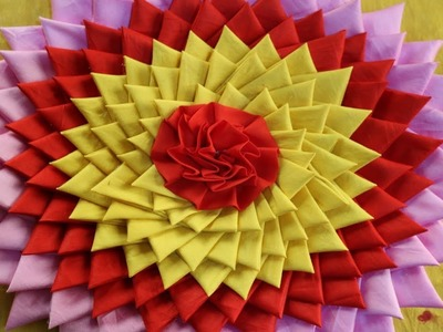 Making How To Make A Flower With Paper Making Paper Flowers Step