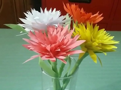 How to make easy paper flower  2018 D.I.Y