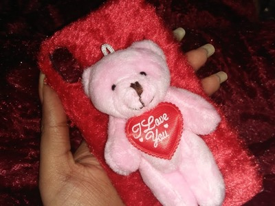 How to make mobile cover at home| teddy bear day special|valetine special | princess choice