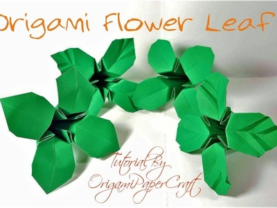 How To Make Origami Flower Leaves | Tutorial By OrigamiPaperCraft