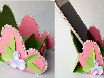 How to make origami paper mobile phone stand. Mobile & Headphone Holder.