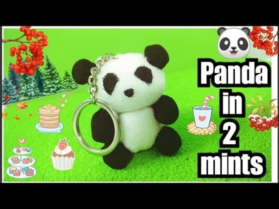 How to Make ???? Panda ???? Key Chain in 2 mints with Cotton balls | DIY Panda Key Chain