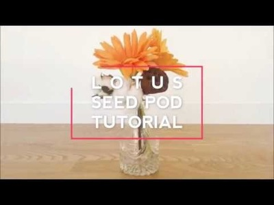 [how to make paper flowers] LOTUS SEED POD! DO NOT NEED TEMPLATE![FULL MAKING FILM]