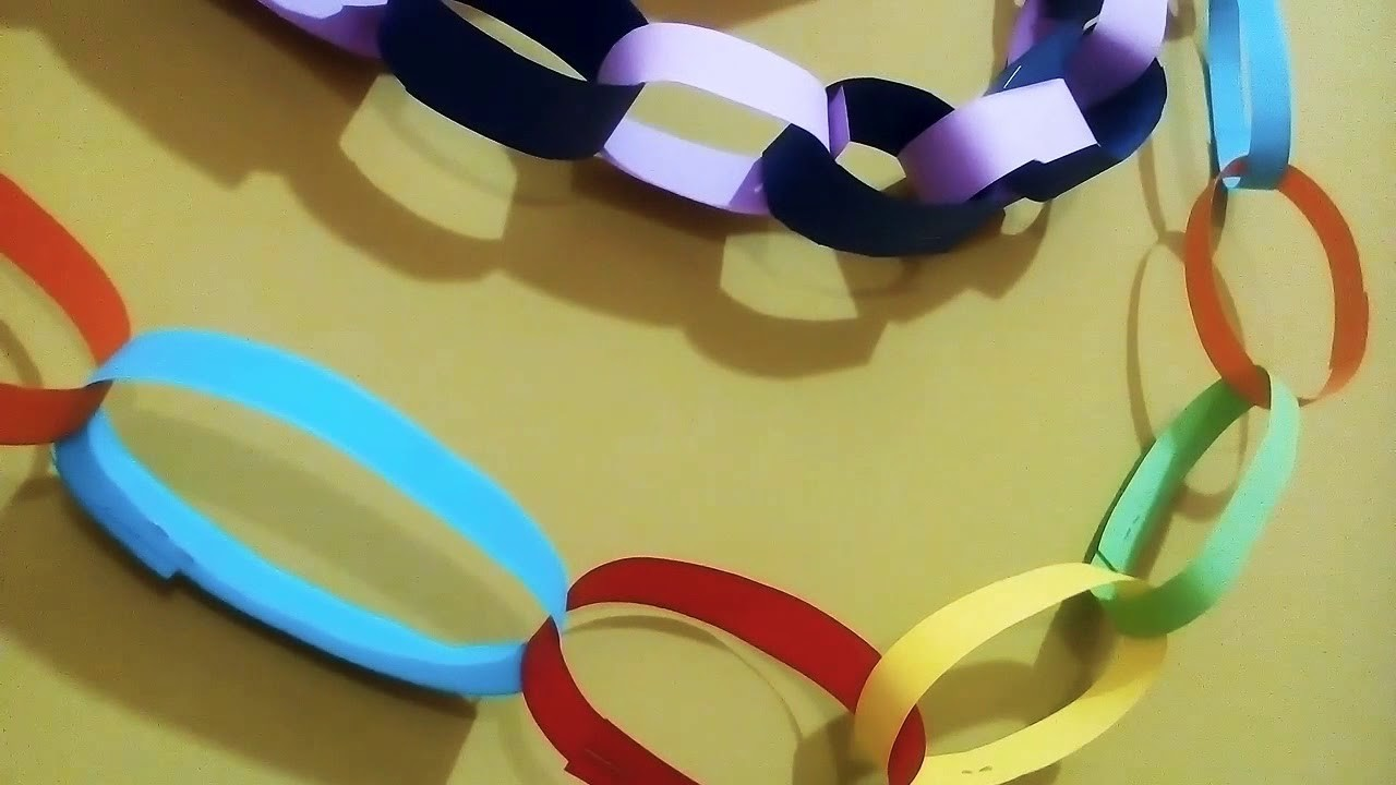 How to make Paper Rings for wall decoration