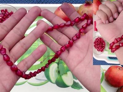 How to make Pomegranate seeds Necklace & Bracelet How it's made, how to make Bracelet DIY