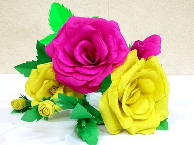 How to Make Roses with Paper | How to make realistic and easy paper roses #roses