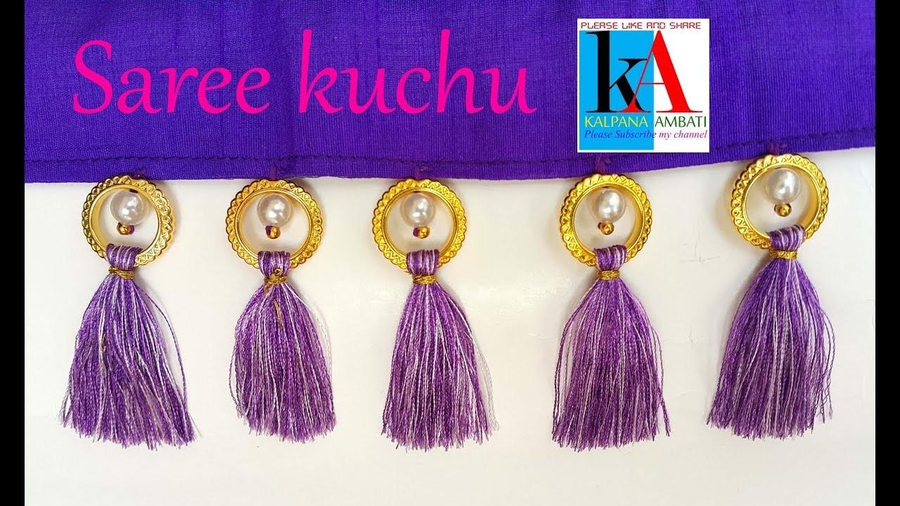 How to make saree kuchu beautiful design with silk thread step by step tutorial