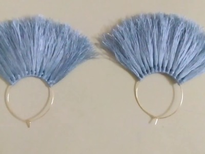 How To Make Tassel Earrings At Home | Diy Tassel Earrings | Silk thread Earrings