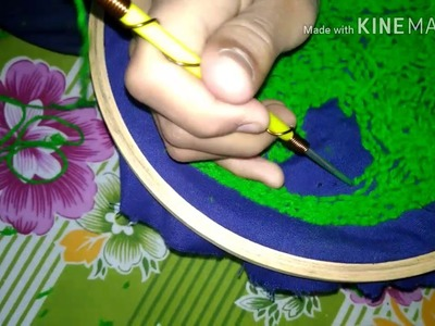 How to make woolen grass for decoration