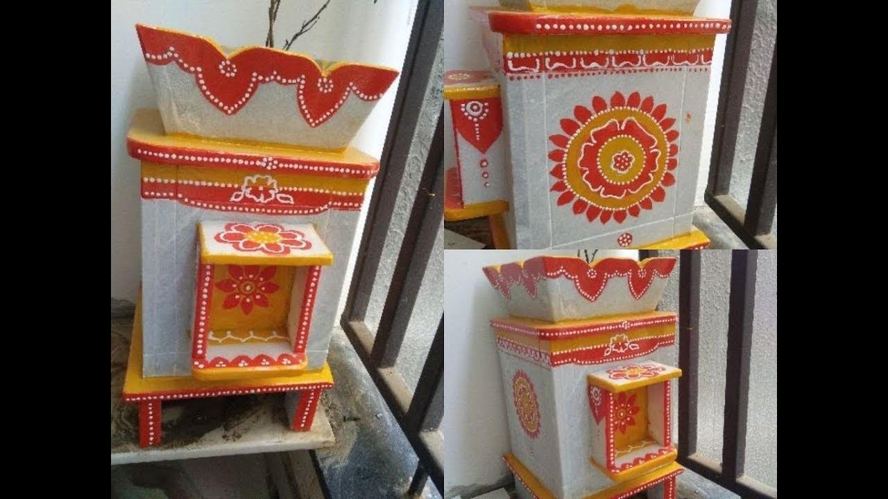 How to Pain Tulsi Kyara- DIY Painting Flower Pot using Oil Paint