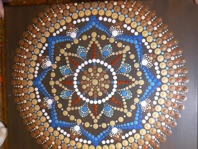 How to paint dot mandalas with Kristin Uhrig-#33 Dreamcatcher part 2