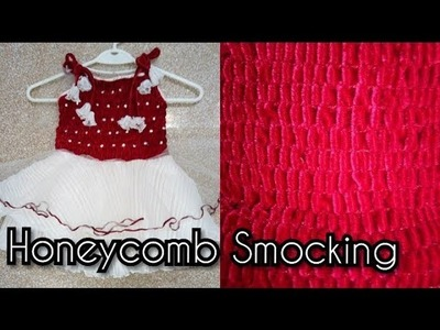 How to sew honeycomb smocking