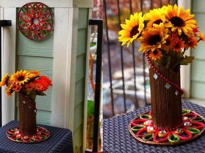 Newspaper. Magazine Flower Vase | Unique and Easy |Best paper crafts |flower vase making with paper